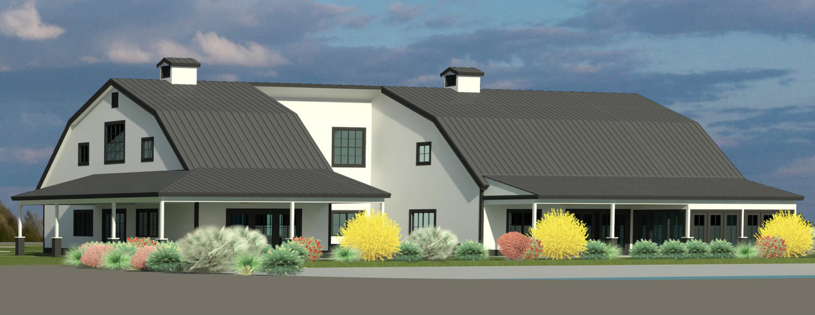 Rendering of the Barn exterior